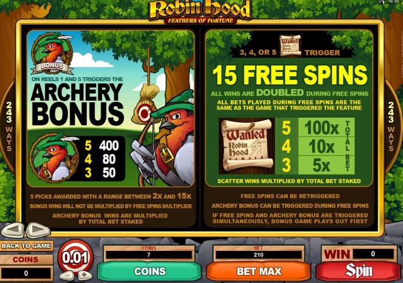 Casino play Robin Hood - 56082